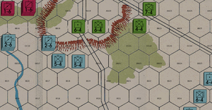 Traditional, June 16th 11am, French advance on Quatre Bras.png